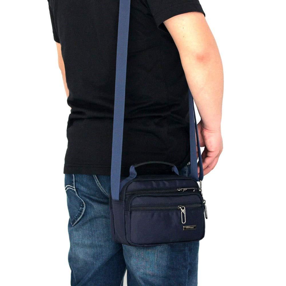 MISLD Sling Bag Mens Messenger Bag Nylon Crossbody Bag Large-Capacity Shoulder Bag Multi-Pocket Fashion Handbag Suitable for Everyday Use