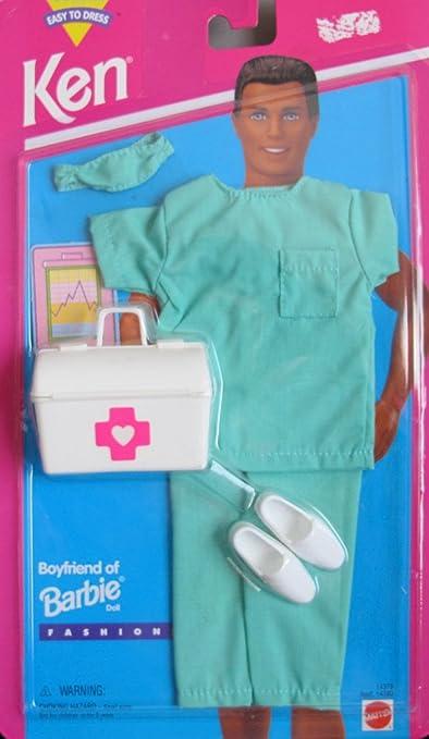 Pants Stethoscope KEN Barbie Fashionista Complete NIB Blue Scrubs Top