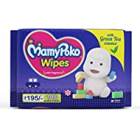MamyPoko Wipes with Green Tea Essence, 200 Wipes