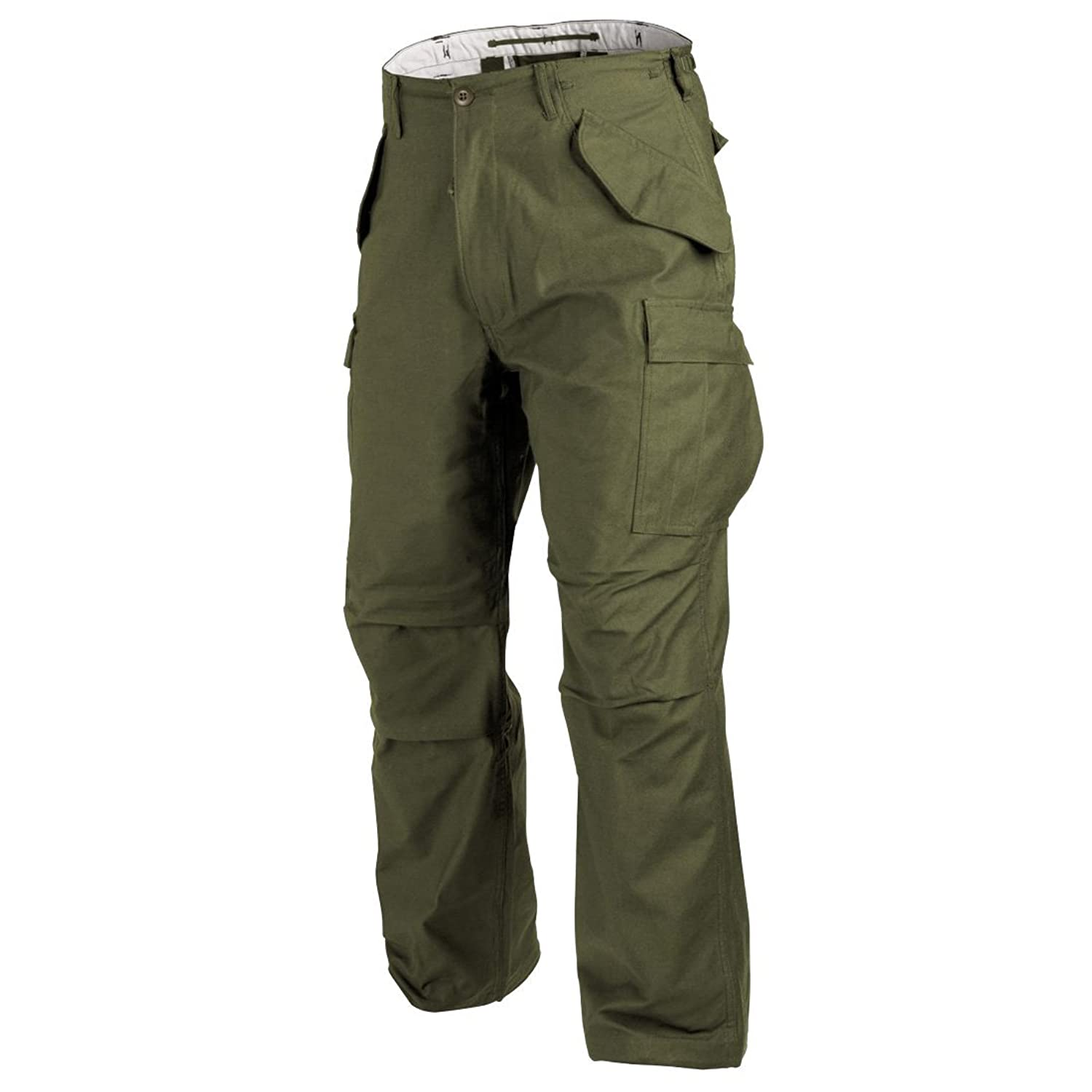 HELIKON GENUINE US M65 COMBAT CARGO TROUSERS MENS ARMY PANTS SECURITY MILITARY (Olive, Regular Leg, Large)