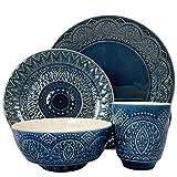 Elama ELM Petra - Vajilla de cerámica, 16 piezas