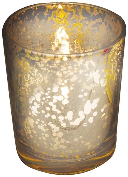 Biedermann Sons Glass Votive Candleholder Set Of 12 Rustic Silver