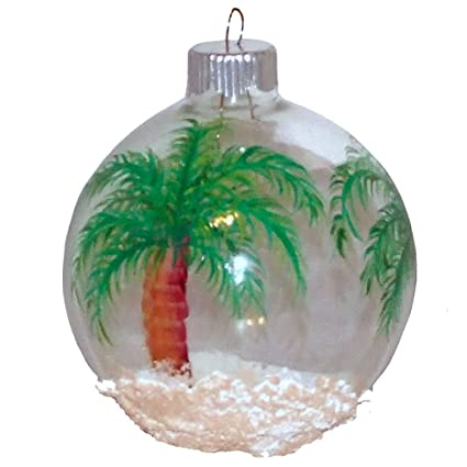 ArtisanStreet's King Palm Tree Christmas Ornament. Hand Painted on Clear  Glass Ball - Amazon.com: ArtisanStreet's King Palm Tree Christmas Ornament. Hand