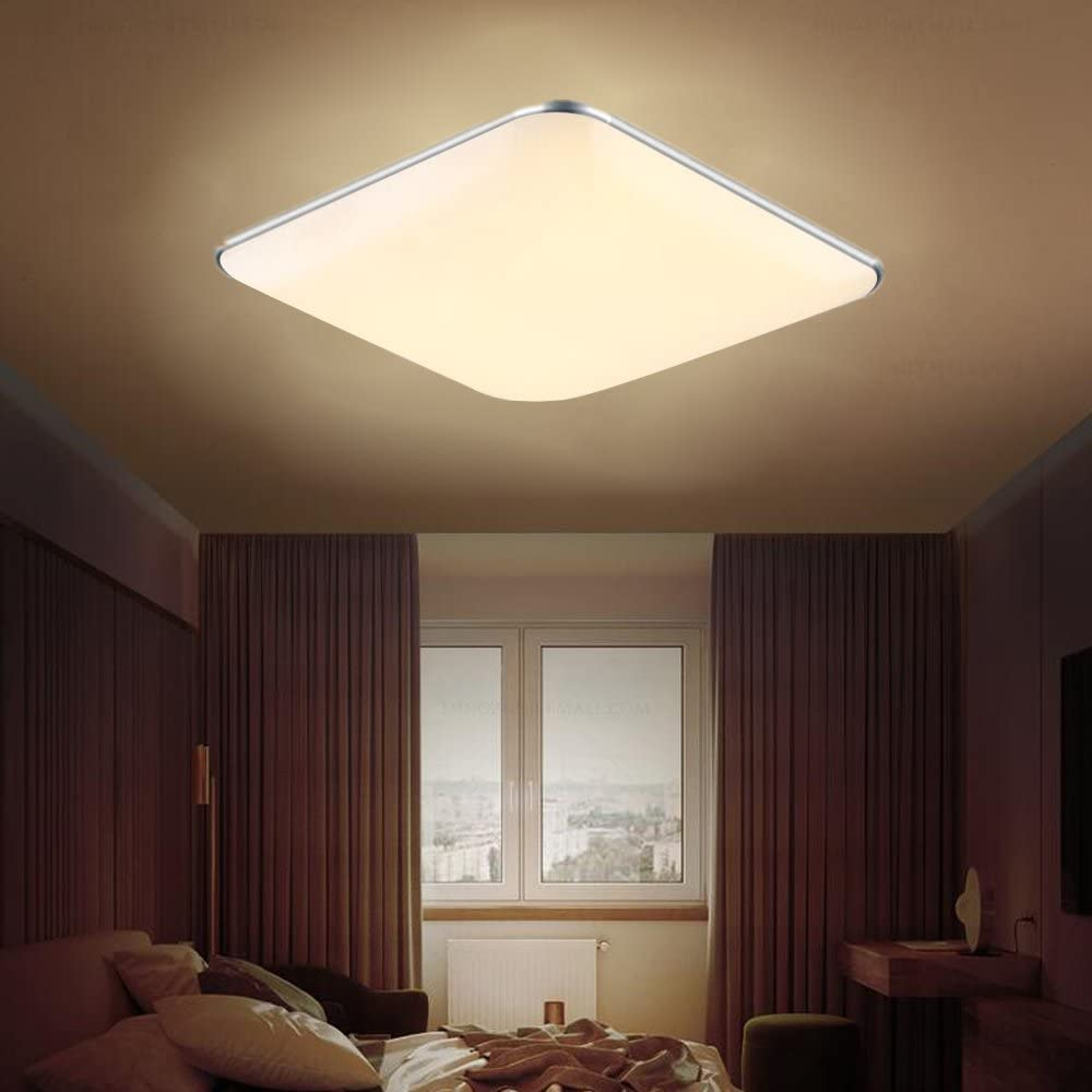 for Living Room Bathroom Bedroom and Dining Room LED Ceiling Lights 1800-3000LM Super Bright Silver WarmWhite SAILUN 36W Ultra-thin Modern LED Ceiling Light AC 85-265V 50Hz 2800K-3500K