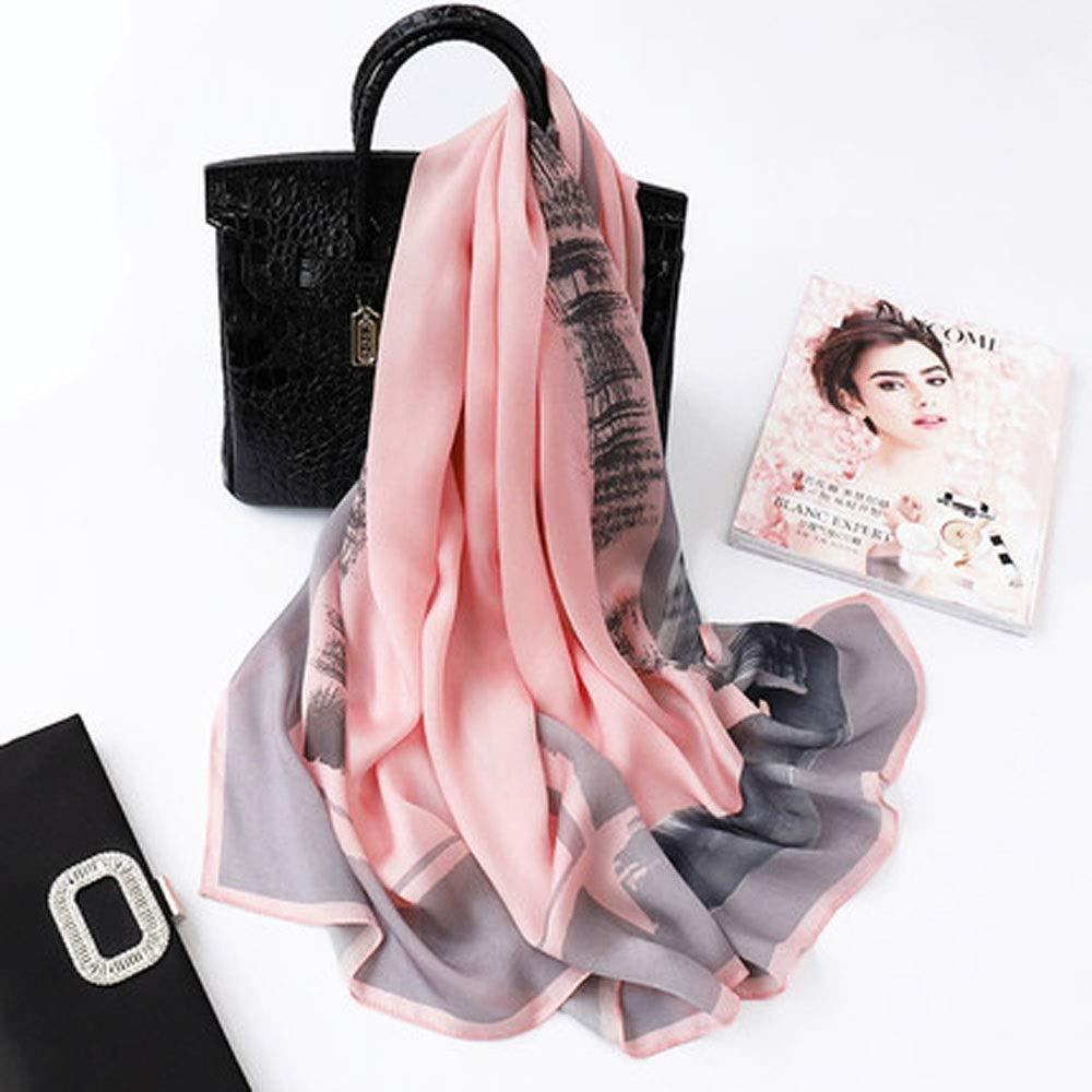 A4 AINIYF Womens 100% Mulberry Silk Scarf Long Satin Scarf Fashion Designer Scarf Lightweight Neck Wear 70.87x25.6inches (color   A4)