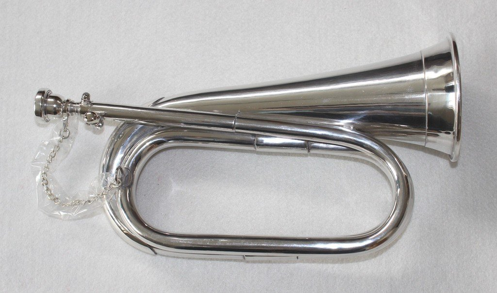OSWAL Bb Low Pitch Tuneable Army,Military Bugle With Free Hard Case+M/P by OSWAL