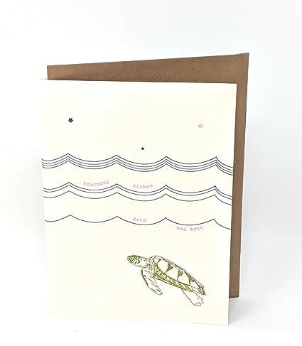 Amazon Lark Press Deep And True Sea Turtle Birthday Card 35