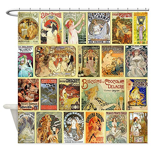 CafePress Nouveau Advertisements Collage Decorative