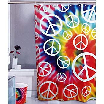 Amazon.com: Kikkerland Peace Baby Shower Curtain, 72-Inch by 72-Inch ...