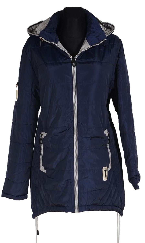 Damen Winterjacke Ballon zipfel Winter Kapuze Parka Jacke kurz Mantel 44 46 48 50 52 L XL XXL 3XL Coat Blau Anorak Ski Jacket Daunen