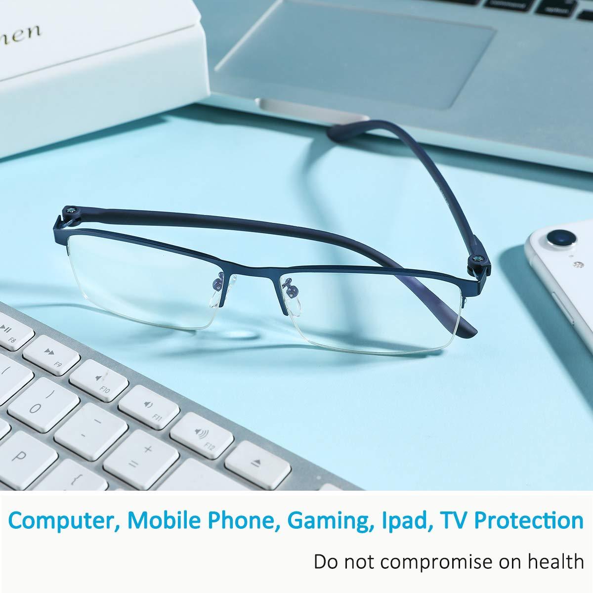 Anti Eye Strain//Glare Better Sleep STAMEN Blue Light Blocking Glasses for Men//Women Computer//Gaming Blue Blocker Glasses