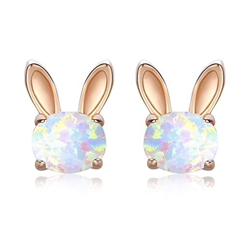 6486ae811 CUOKA MIRACLE Rabbit Earrings for Women Sterling Silver Stud Earrings Rabbit  Jewellery for Women Silver Bunny