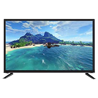 Nannday Ultra HD Smart TV, Ultra-Narrow Bezel Intelligence Televison 32-inch Large LCD Screen Supports USB HDMI RF Antenna Input with Image Noise Reduction End-Array Light HRD 1366768(US)