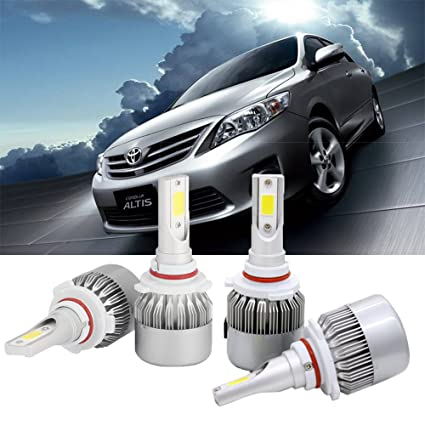 Amazon Com 9005 9006 Combo Led Headlight Bulb For Toyota Corolla