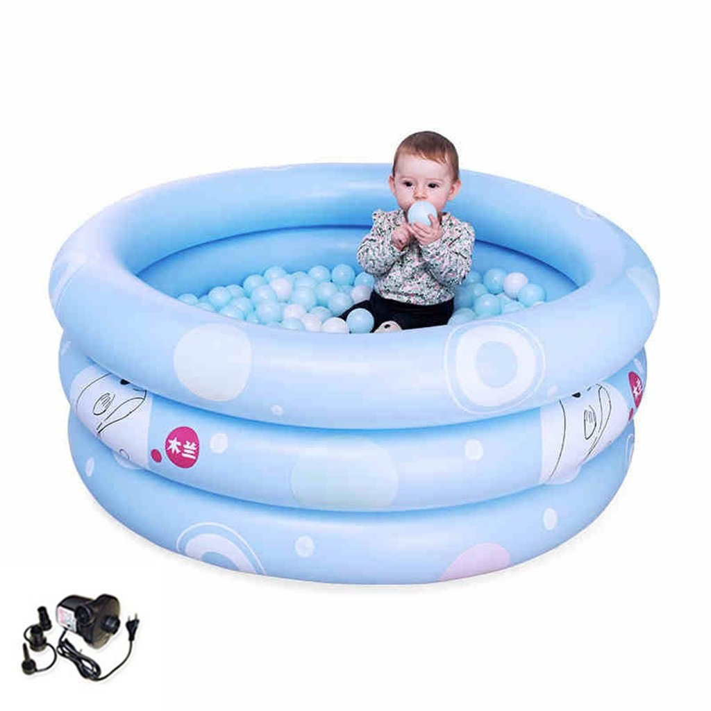 LQQGXL,Bath Children's inflatable pool baby bathtub blue Inflatable bathtub ( Color : Electric pump , Size : 125cm )
