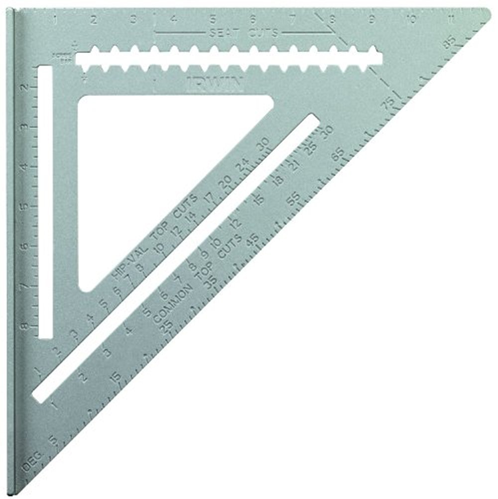 IRWIN Tools Rafter Square, Aluminum, 12-Inch (1794465) by Irwin Tools
