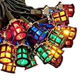 80 LED Coloured Mini Christmas Lantern Lights Decoration Mains Powered Indoor or Outdoor Use