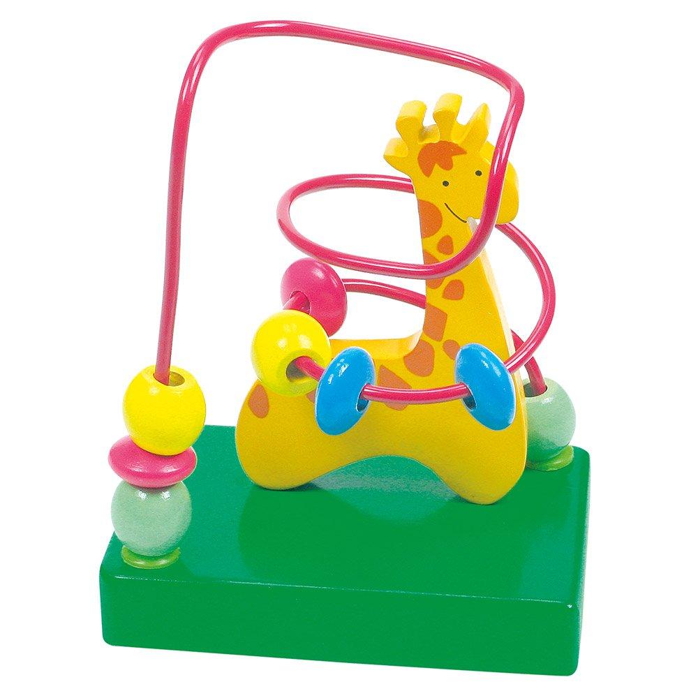 Bino 84160 10 x 7 x 12.5 cm Bead Maze Giraffe Toy (Multi-Colour)