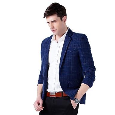 Bouton Elegant Slim Homme Casual Veste Costume Deux Fit Heheja q8FRwvX