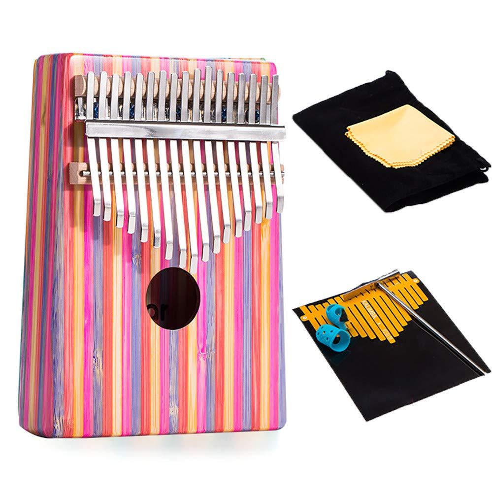 Yajun Thumb Piano 17 Keys Kalimba Portable Finger Marimbas Beautiful and Elegant Music Instrument with Tuning Hammer for Child Beginner,Pink by Yajun