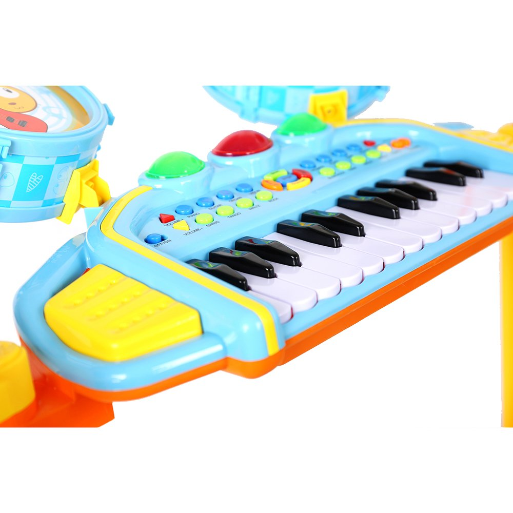 COLORTREE Educational Development Music Toy Electric Beats Jazz Drum and Piano by COLORTREE (Image #4)