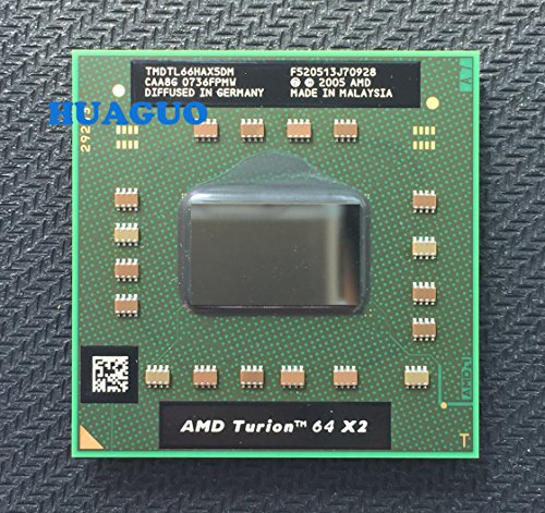 - AMD Turion TL-66 TMDTL66HAX5DM Mobile CPU Processor Socket S1G1 638pin 2.3GHz 1MB