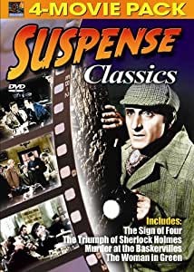 Suspense Classics 4-Movie Pack - Sign of Four, Triumph of Sherlock Holmes, Murder at the Baskervilles, Woman in Green [Import]