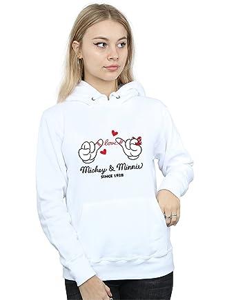 440f2753ac062 Disney Femme Mickey Mouse Love Hands Sweat À Capuche  Amazon.fr ...