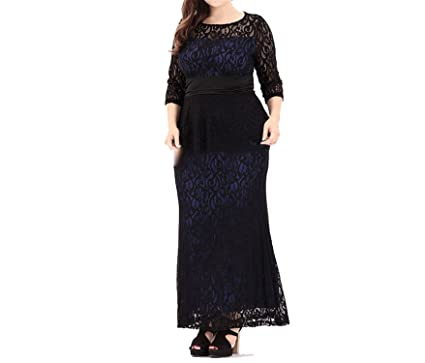 53395eb46fc83 Image Unavailable. Image not available for. Color: OUXIANGJU Sexy Lace Dresses  Tunic Summer Elegant Ladies Maxi Long Club Party Plus Size 6XL