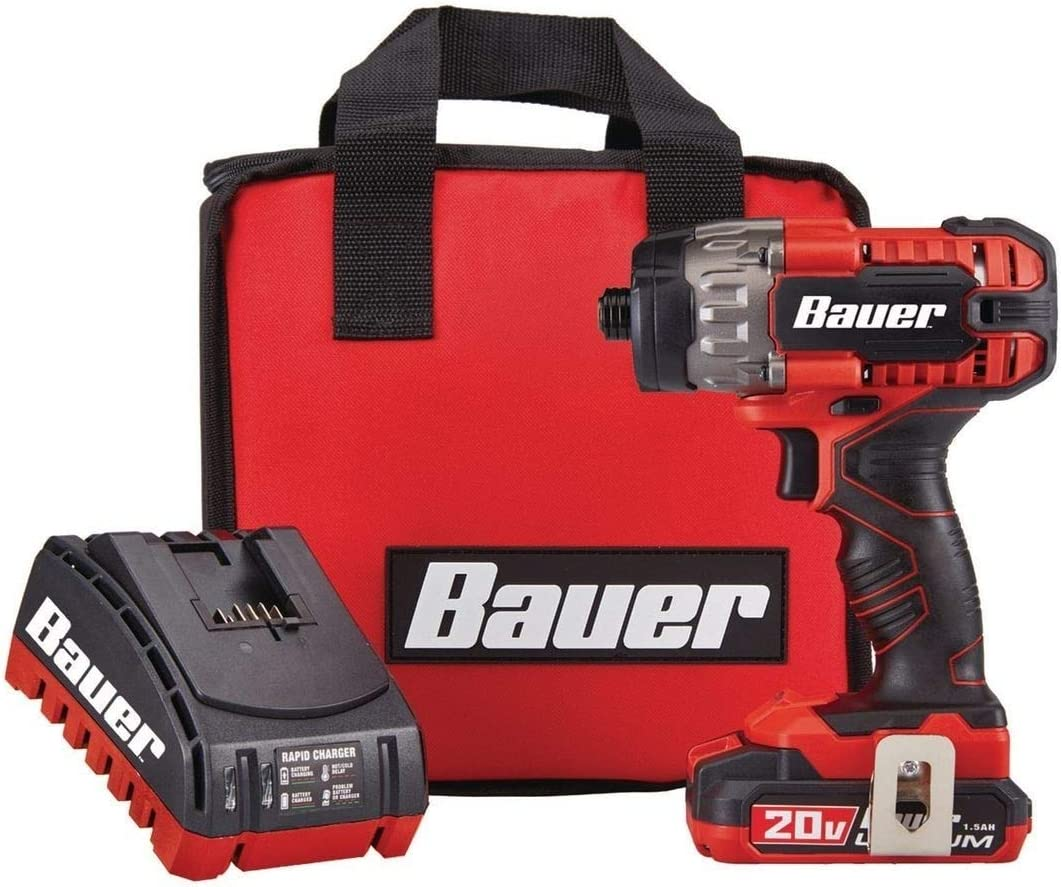 Bauer 1781C-B1 Hypermax Lithium, Hex Compact Impact Driver Kit, 20V