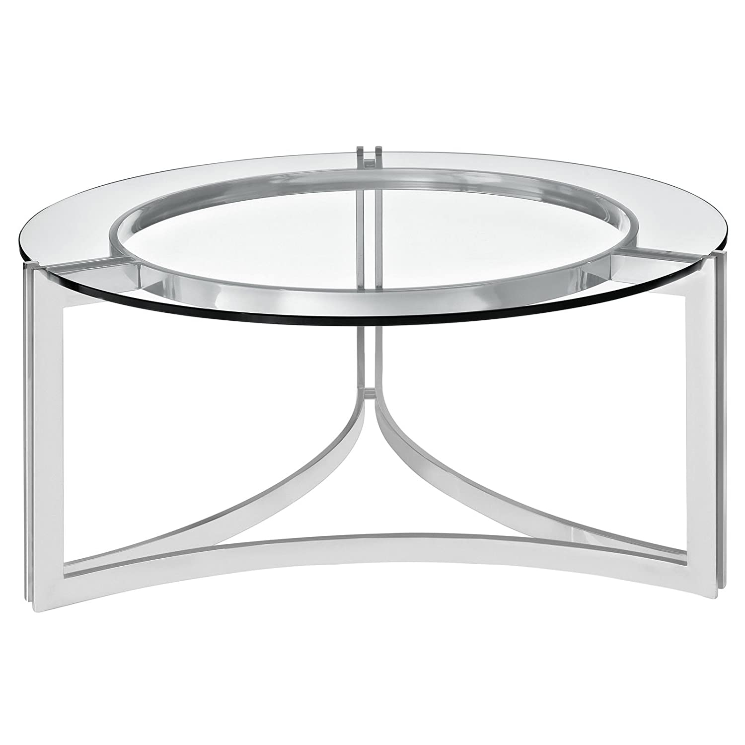 Amazon Modway Signet Stainless Steel Coffee Table in Silver