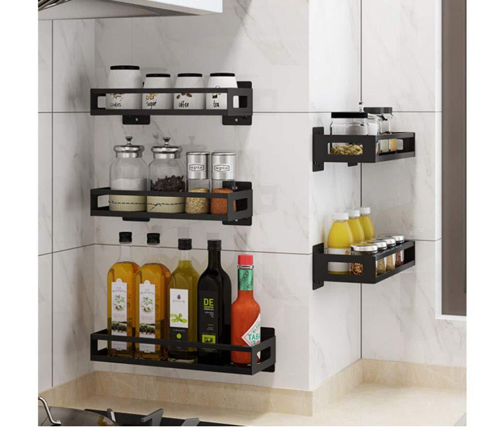 ba/ño vinagre estante de pared para salsa de aceite cocina Especiero de acero inoxidable para colgar en la pared