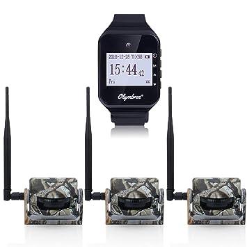 Olymbros Sensores Para Caza Con Alarma en Reloj Alcance Hasta 200m 3 Detectores de Movimiento Con Sonido y Vibración Seguimiento de Animales Alarma IP54: ...