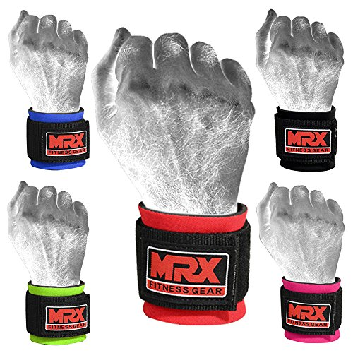 MRX BOXING & FITNESS Wrist Wrap for Weight Lifting, Crossfit, Bodybuilding, MMA Training Wrist Support, Gym Accessories for Men and Women, Workout Gear Wrist Straps for Wrist Pain