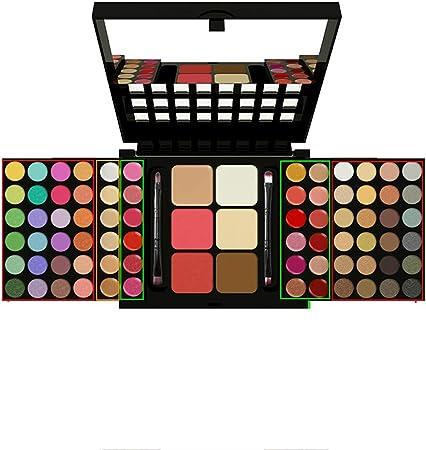 SKFG® 78 Colores Kit De Maquillaje Profesional Set Caja Maquillaje Sombras De Ojos Desnudos Colores Sombra De Sombras Paleta Conjunto Vegano Ojo Paleta FuncióN Maquillaje,StyleA: Amazon.es: Hogar
