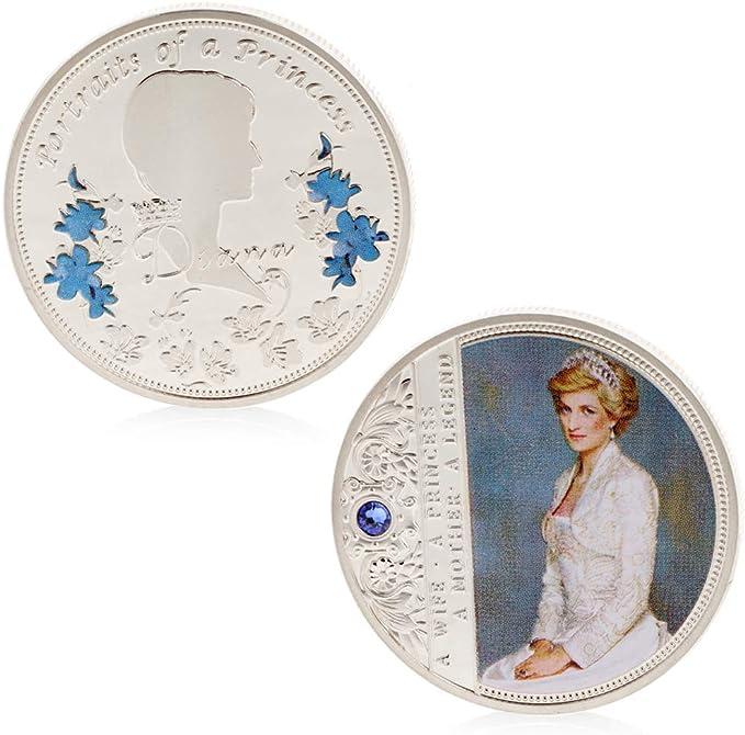 zijianZZJ Pi/èce de Monnaie comm/émorative en cuivre Rare Diana Collection Souvenir Souvenir avec Alliage de Zinc