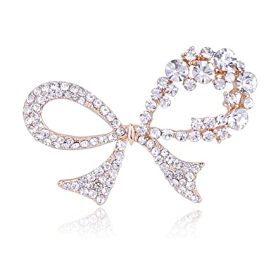 DTZH Cristal Diamante de imitación Arco Broche Arco Corbata ...
