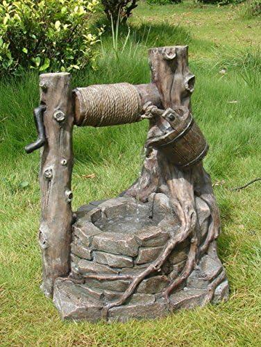 Decoración Fuente Outdoor Pozo Jardín Fuente resistente a la intemperie cariñosos aplicaciones Decorativo Juego AGUA PARA EL INTERIOR Y EXTERIOR: Amazon.es: Jardín