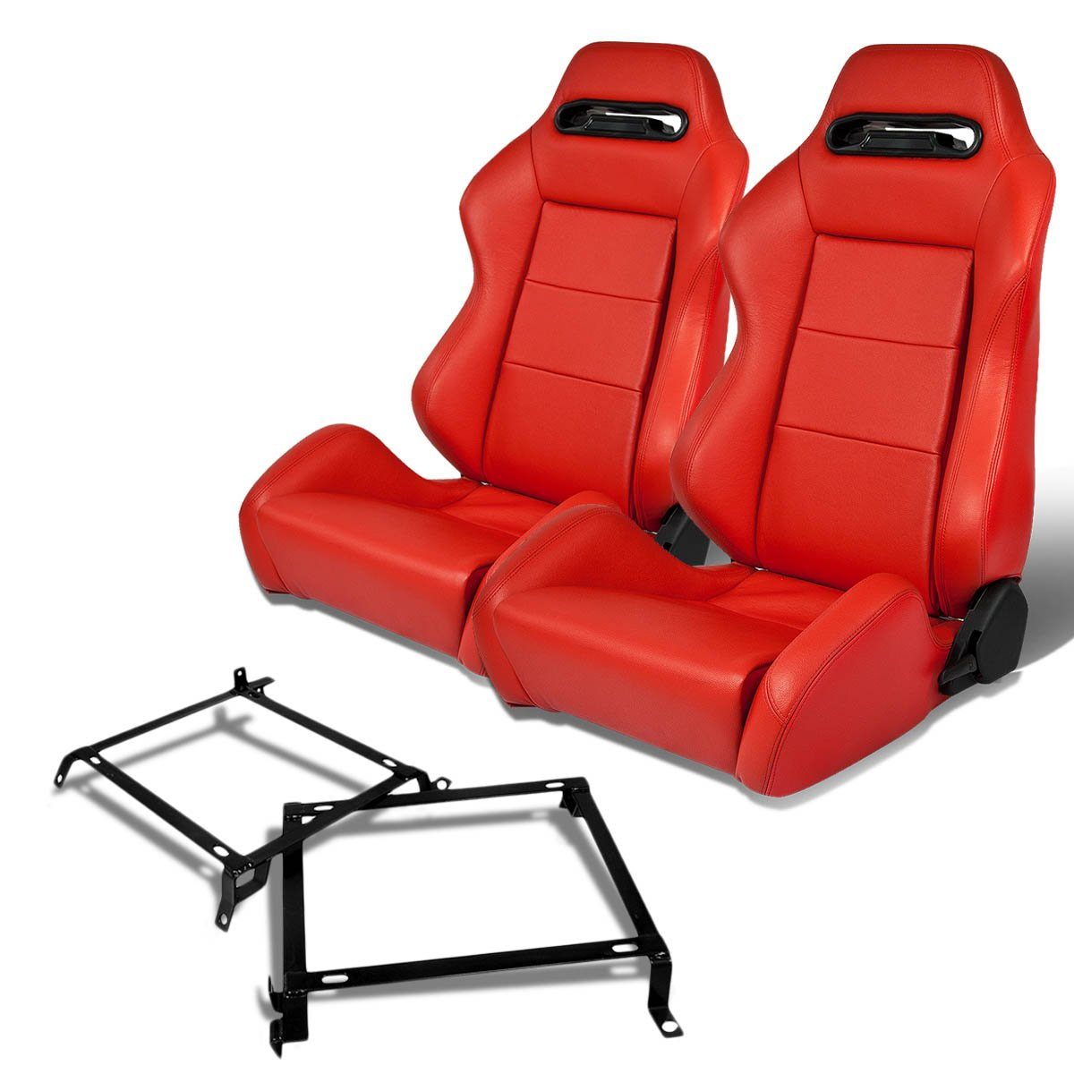 Pair of RSRLTRRD Racing Seats+Mounting Bracket for Nissan 240SX S13//S14 Silvia