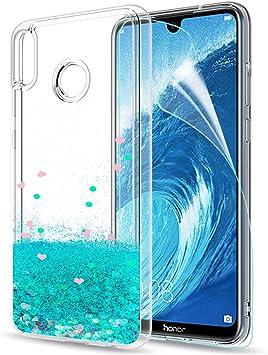 LeYi Funda Huawei Honor 8X Max Silicona Purpurina Carcasa con HD ...