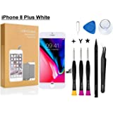 Compatible with iPhone 8 Plus Screen Replacement 5.5 inch (White), COASD LCD Digitizer Touch Screen Assembly Set with 3D Touch, Repair Tools and Professional Replacement Manual Includ (8 Plus White)