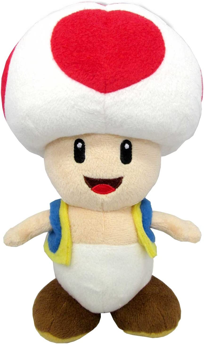 Amazon Com Sanei Super Mario All Star Collection 7 5 Toad Plush