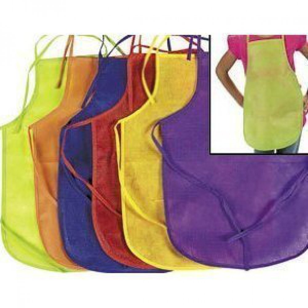 Fun Express Assorted Childrens Artists Aprons for Kitchen or Classroom 24 Pack
