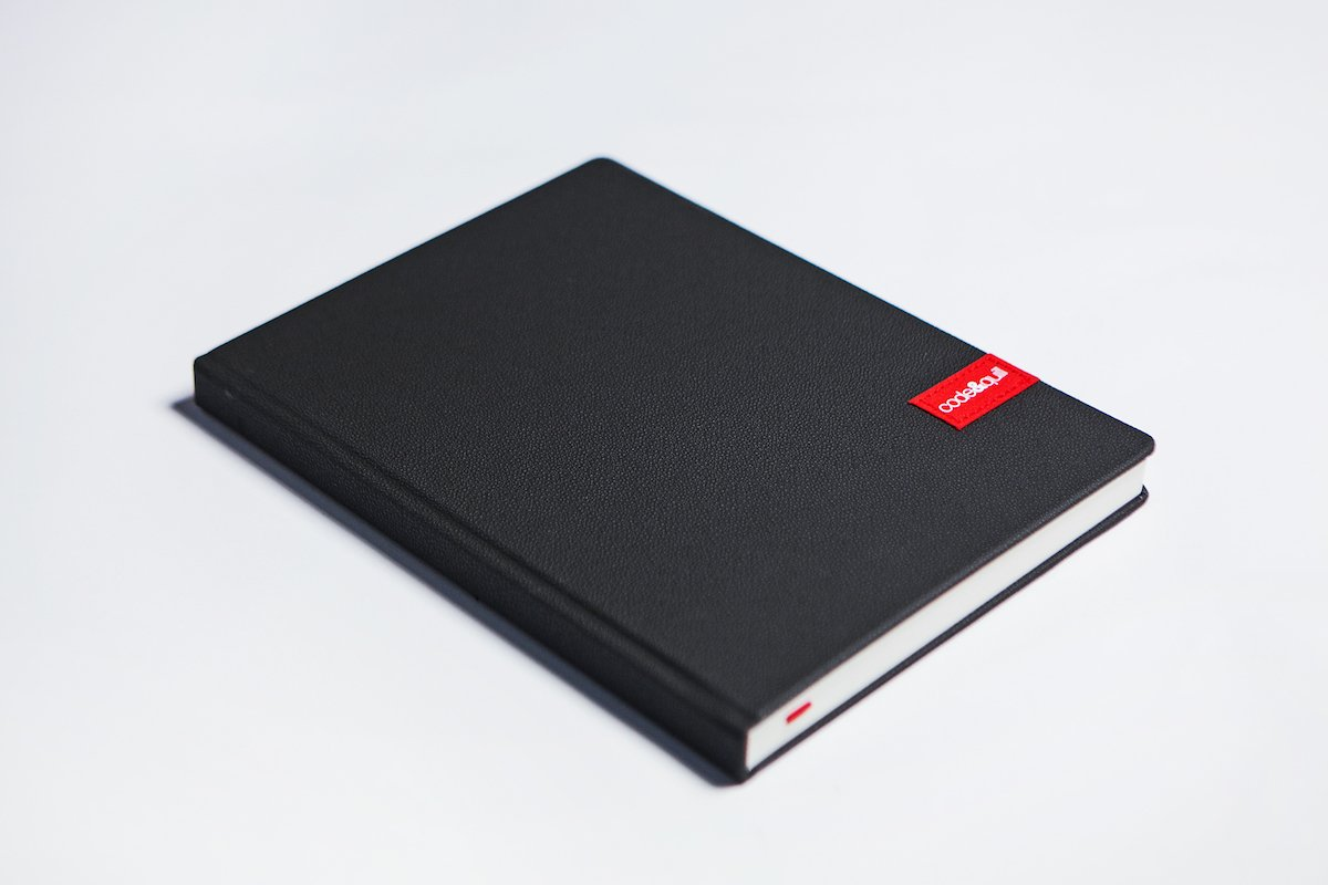 code&quill Monolith Notebook Premium Large-Format Hardcover Notebook for Creatives (7.25'' x 10'') (Layout: Indentation Rule (Both Pages), Gray)