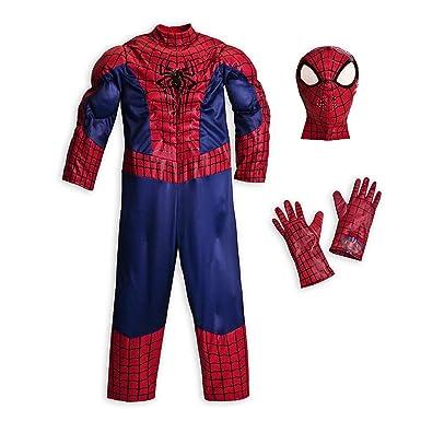 Amazon.com: Disney Store Deluxe Amazing Spiderman Costume ...