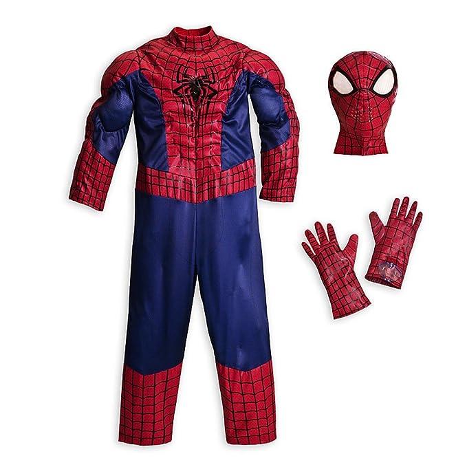 Amazon.com Disney Store Deluxe Amazing Spiderman Costume Halloween XS Extra Small 4 4T Clothing  sc 1 st  Amazon.com & Amazon.com: Disney Store Deluxe Amazing Spiderman Costume Halloween ...
