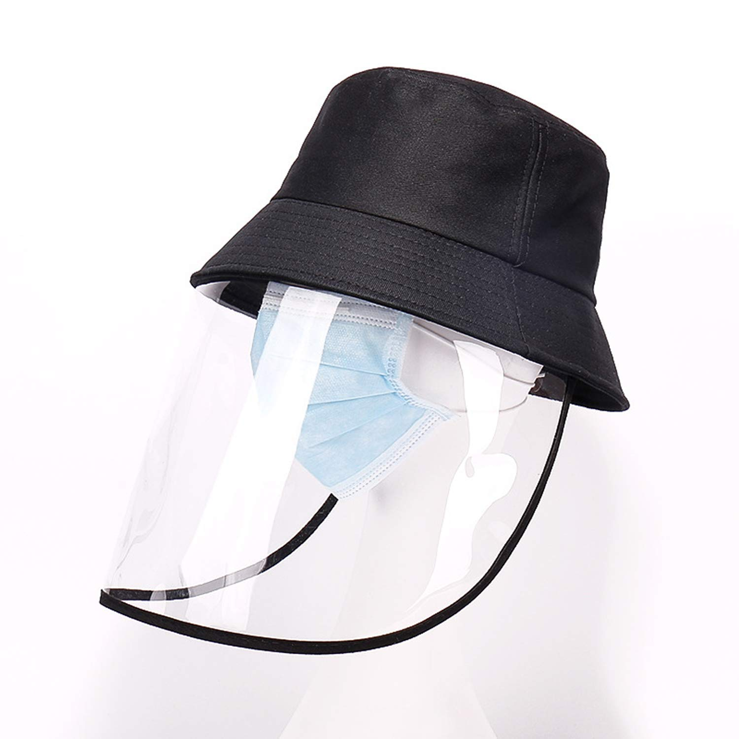 Skymecos Adult Mask Hat Anti-Spitting Protective Hat Cover Outdoor Fisherman Hat Adjustable Anti-Fog Saliva Particulate Splash Cap Hat