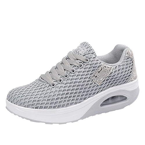 Zapatillas de Exterior para Mujer Otoño Invierno 2018 Moda Zapatos de Plataforma Cuña Dama PAOLIAN Casual Cómodo Calzado de Running Breathable Señora ...