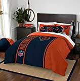 Chicago Bears Embroidered Full Comforter, Sheets & Shams Set (7 Piece NFL Bed In A Bag)