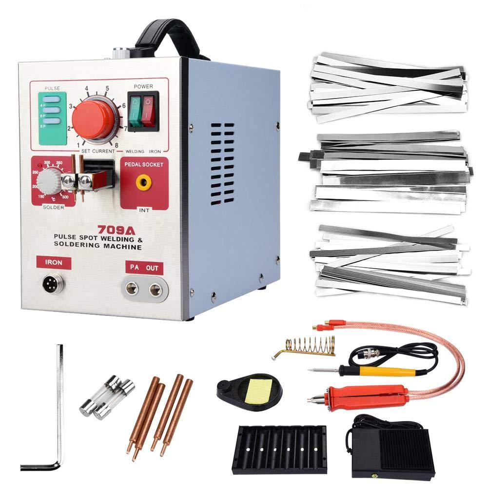 709A Professional Electric 3.2kW Spot Welder + Soldering Pen DIY 18650 Máquina de soldadura de batería para soldadura de acero inoxidable, hierro, níquel, accesorios de hardware(UE)